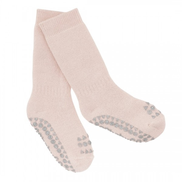 GoBabyGo Thermo Stopper-Socken in Rosa mit Glitzer