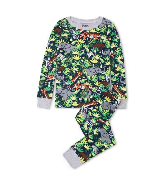 Hatley Langarm Pyjama -Bio Baumwolle - Dschungel Safari