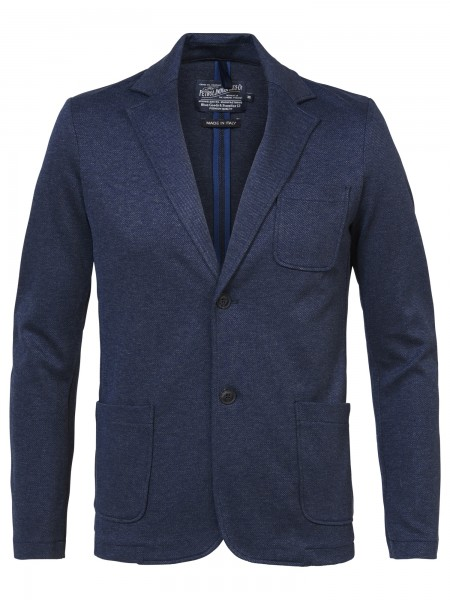 Petrol Industries Jersey Jacket Blazer in Marineblau mit Elastan