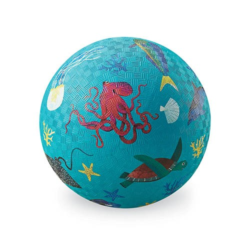 Crocodile Creek Spielzeug Ball - Naturgummi - Sea Animals - Meerestiere
