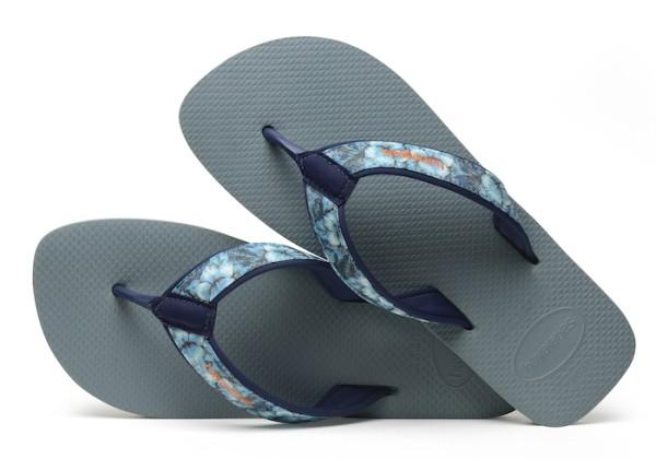 Havaianas Flip Flop Surf Material in Silberblau