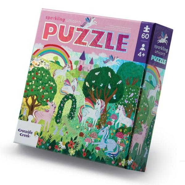 Crocodile Creek Puzzle - Sparkling Unicorn - 60 Teile