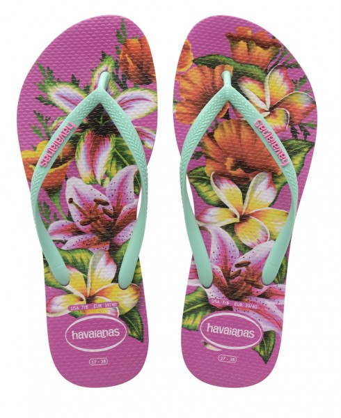 Havaianas Flip Flop Slim Floral Rosa Hollywood