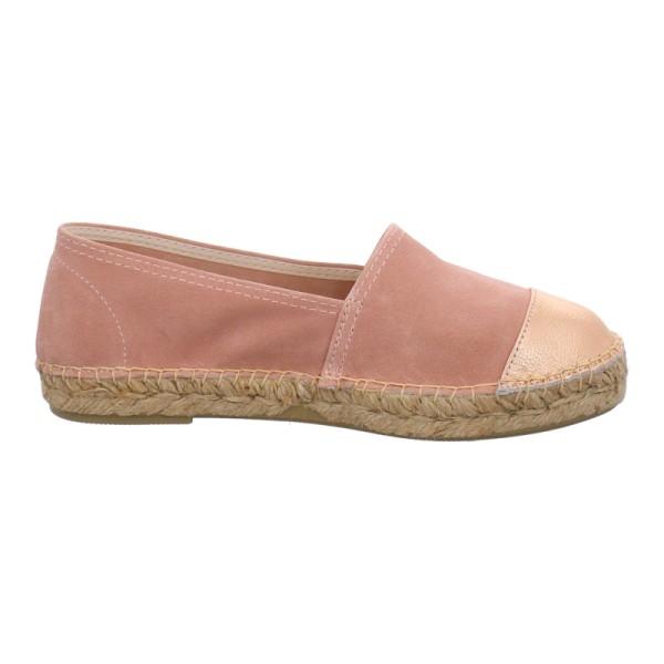 Espadrij klassische Espadrille Schuhe Velour-Leder rosé
