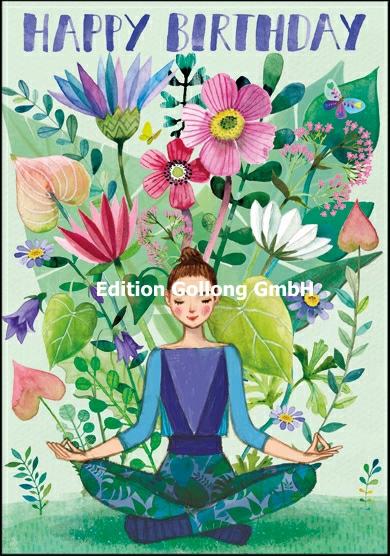Cards Aur34 Happy Birthday Yoga Girls Think Of Me Designs