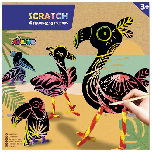 Avenir Scratch Flamingos