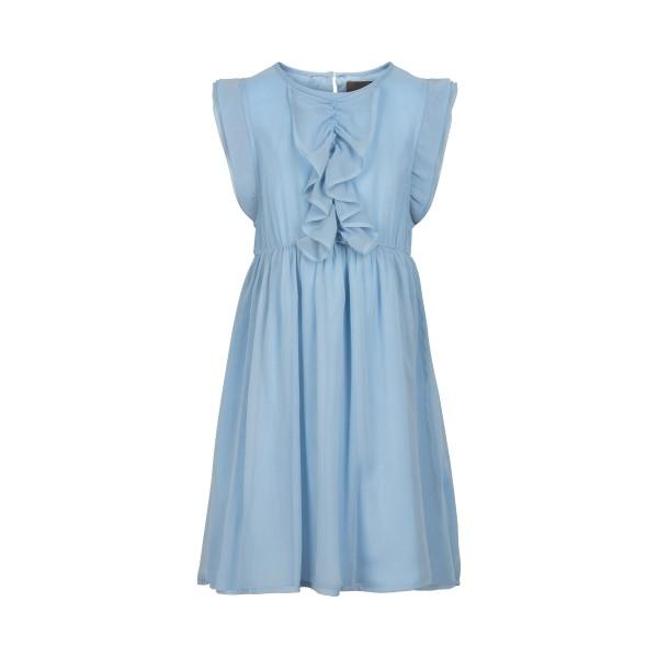 Creamie Chiffon Kleid in hellblau mit Rüschen