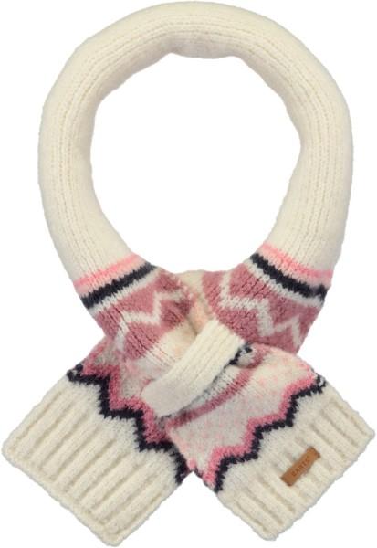 Barts Thumper Schal mit Norweger Muster in cream & rosa