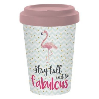 paperproducts Bambus Coffee-to-go Flamingo