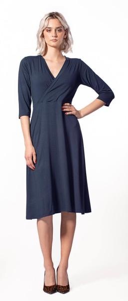 ICH JANE Kleid Linda mit Wickeloptik - Navy Modal