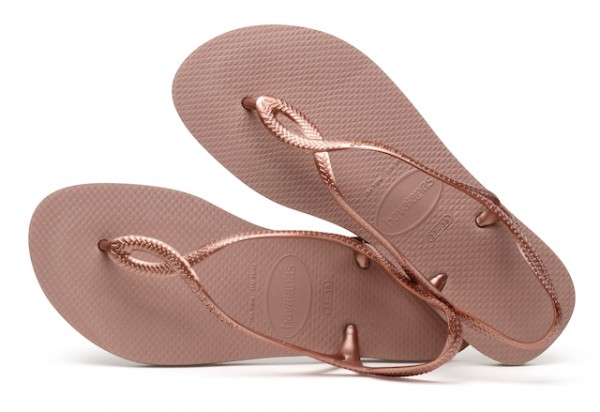 Havaianas Flip Flop Sandale LUNA in Rose Gold