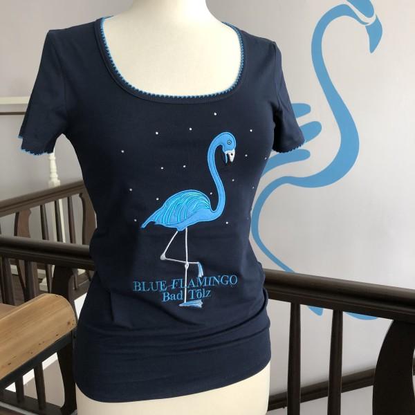 Blue Flamingo Bad Tölz Damen T-Shirt in Navy