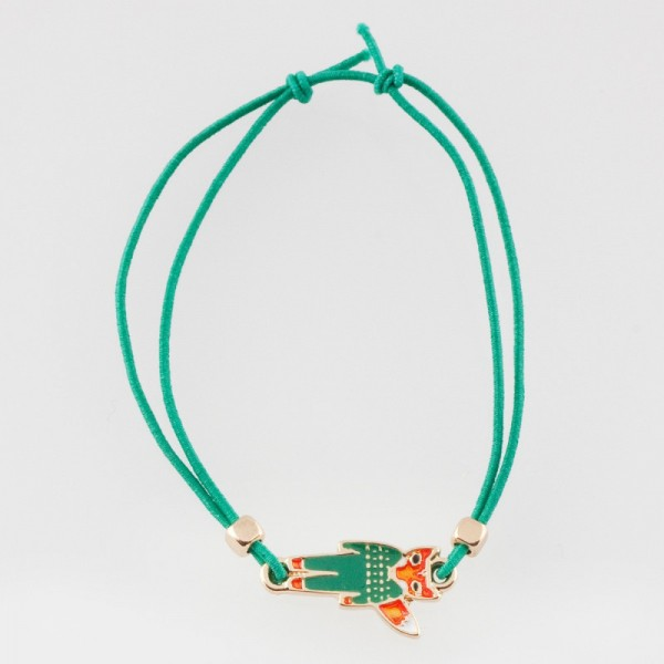 Ella & Monster Armband in grün - gold Fuchs