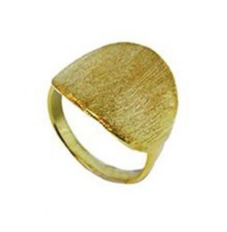 Aqua Dulce Ring BRUSHED - 925Sterling Silber gebürstet & vergoldet-