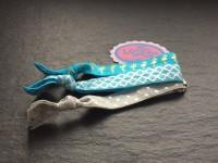 Wowzers Hair Ties Set von 3 Armbänder / Haargummis - Türkis Flamingo