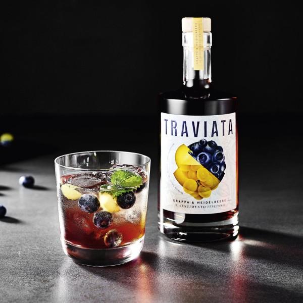 TRAVIATA - Grappa & Heidelbeere - Spirituose 500ml (38% vol)