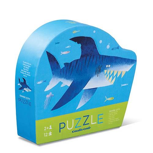 Crocodile Creek Mini Puzzle - Shark - Haifisch - 12 Teile