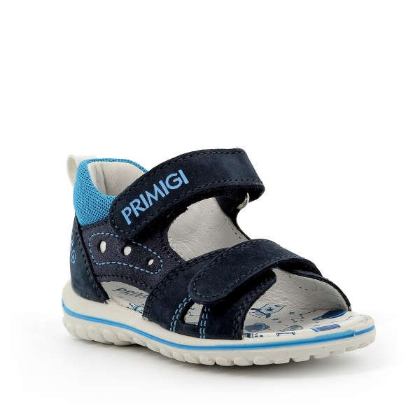 Primigi Leder Sandale mit Klettverschluss in Blau