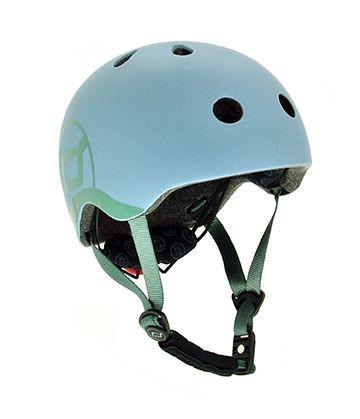 Scoot and Ride Helm in Steel Blau - XXS (45-51 cm)