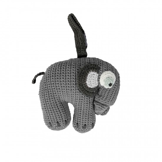 Sebra Spieluhr Elefant in Grau - handgefertigt