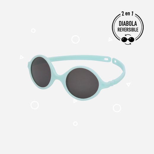 KiETLA Baby-Sonnenbrille Diabola (UV-Schutz 4) mit hellblauem Rahmen-
