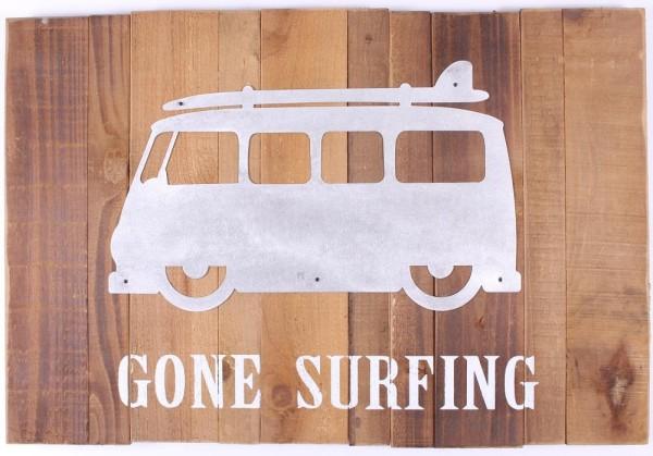 Lafinesse Holz Schild - Gone Surfing