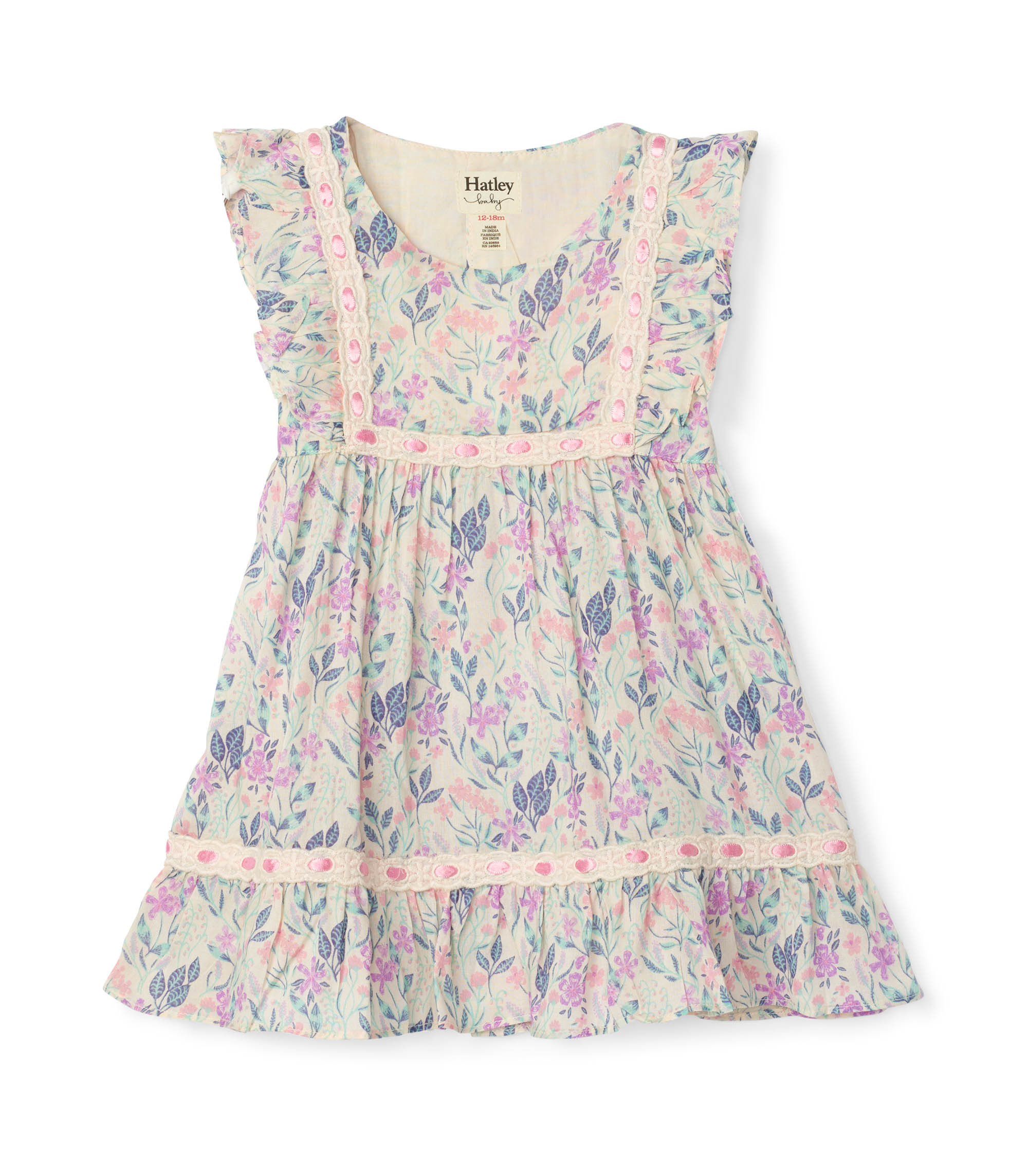 Hatley Baby Party Kleid - Flieder Blumen   Blue Flamingo ...