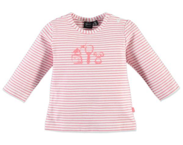 Babyface Baby Langarm Shirt Coral Pink Gestreift
