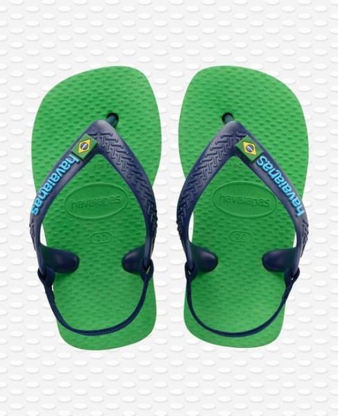 Havaianas Baby Flip Flops - Brasilien Logo Grün