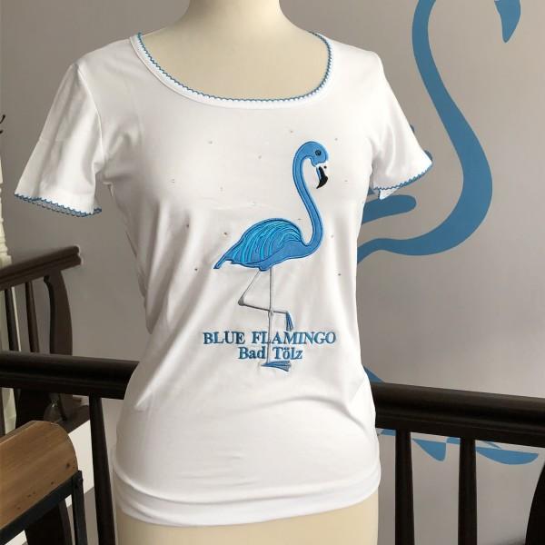 Blue Flamingo Bad Tölz Damen T-Shirt in Weiß