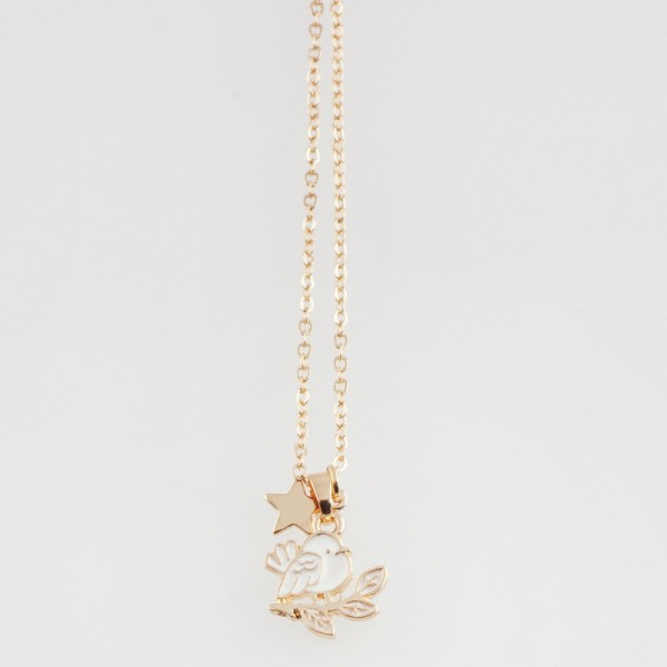 Ella & Monster Halskette Gold - Birdie - Vogel