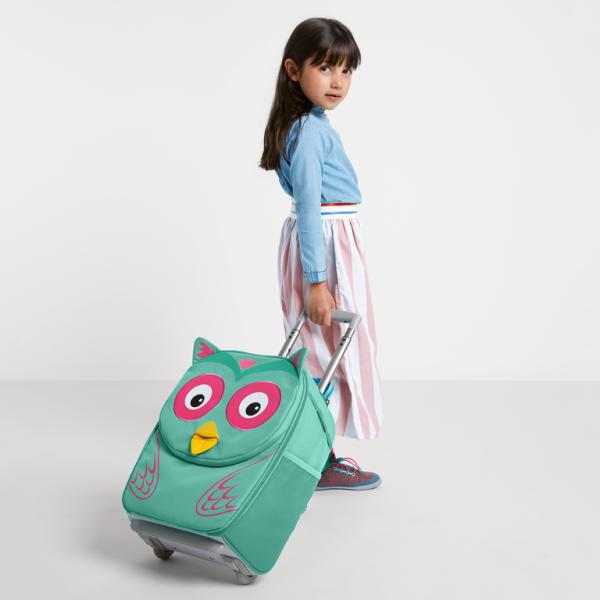Affenzahn Kinderkoffer mit Roller - Eule