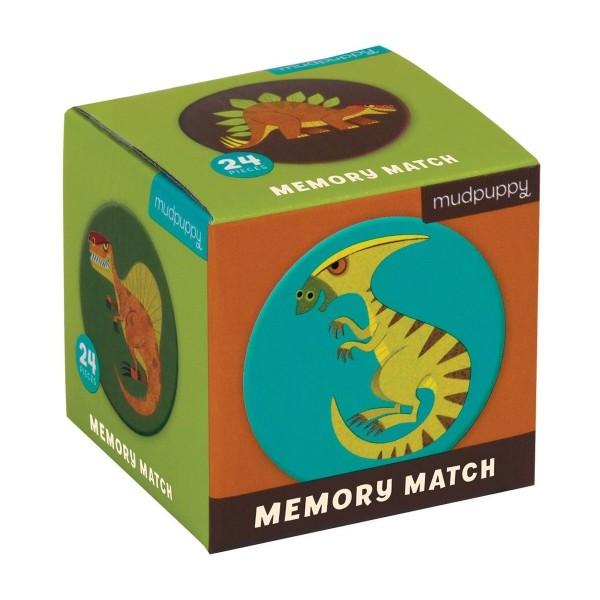 Mudpuppy Memory Match - Dinosaurier - 24 Stück