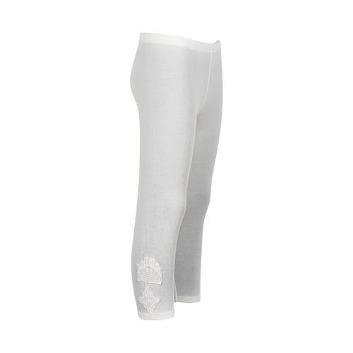 Creamie Capri Legging Häkel-Spitze in Weiß