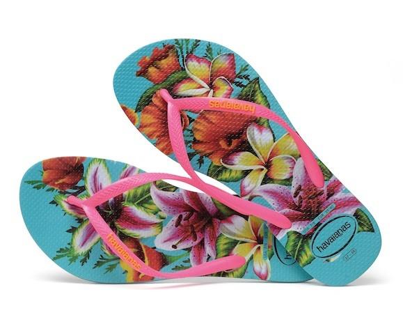 Havaianas Flip Flop Slim Floral Türkis