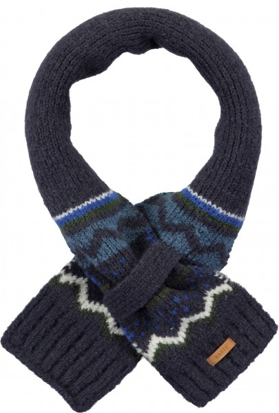 Barts Thumper Schal mit Norweger Muster in Marineblau