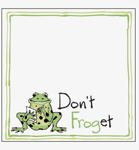 Little Blue House Klebezettel - Don't Froget