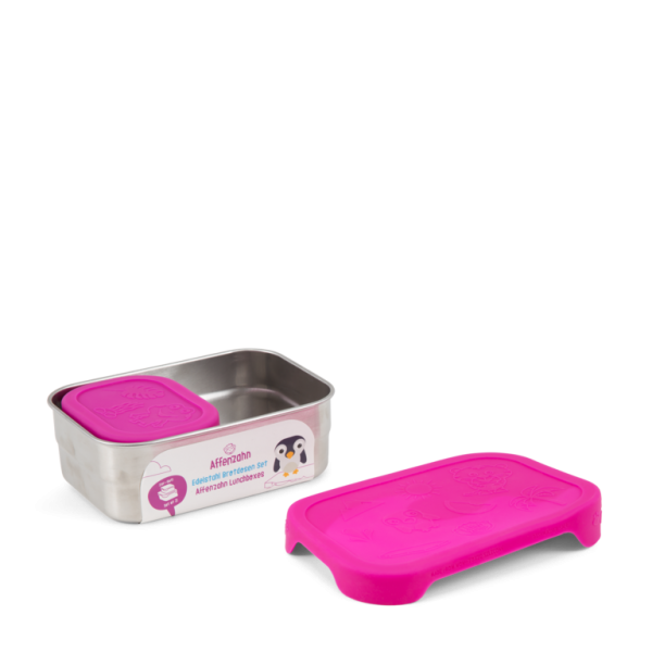 Affenzahn Brotdose Edelstahl - Pink