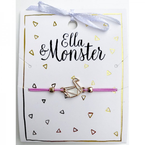 Ella & Monster Armband in rosa - gold Schwann