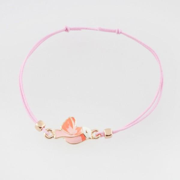 Ella & Monster Armband in rosa - Vogel