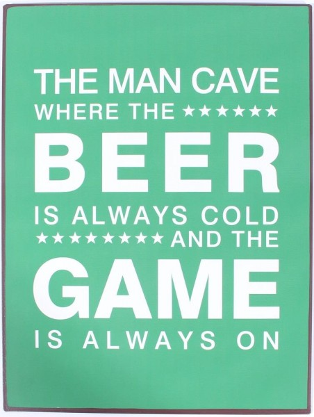 Lafinesse Metal Schild - Man Cave - Beer and Game