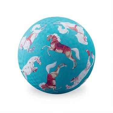 Crocodile Creek Spielzeug Ball - Naturgummi - Pferde - Groß