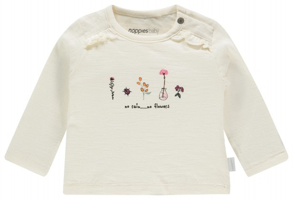 Noppies Langarm Shirt - No Rain...No Flowers - Bio Baumwolle