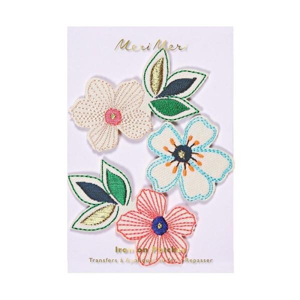 Meri Meri Bügel Patches Blumen - 3 Stück