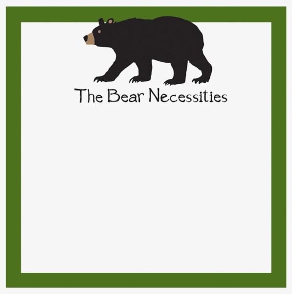 Little Blue House Klebezettel - The Bear Necessities