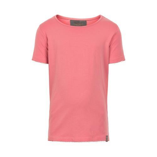 Creamie Basic Kurzarm T-Shirt in coral