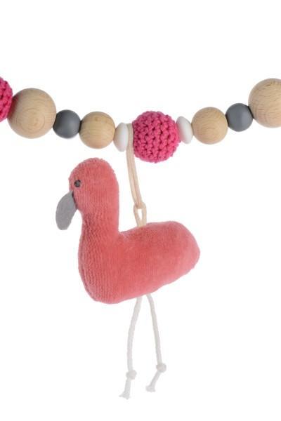 Kikadu Kinderwagenkette - Flamingo