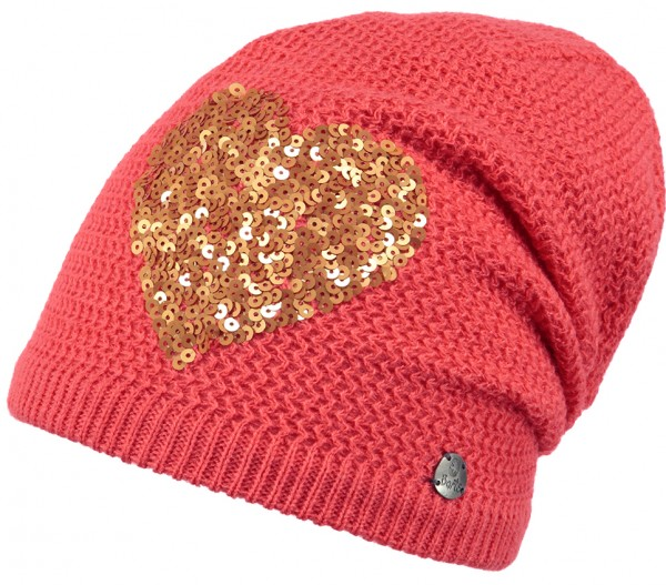 Barts Fable Beanie Mütze Coral Herz