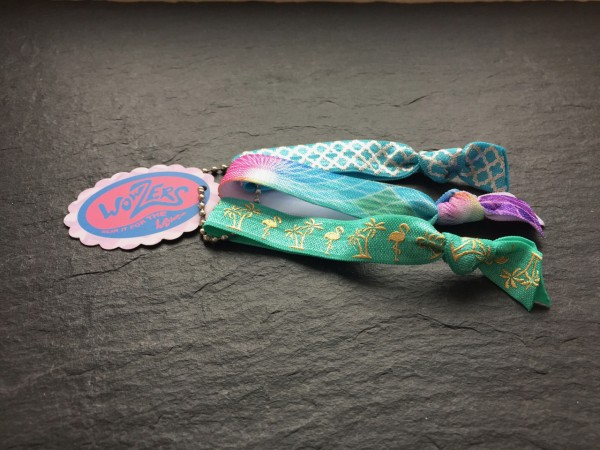 Wowzers Hair Ties Set von 3 Armbänder / Haargummis - Flamingo Beach