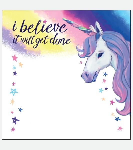 Little Blue House Klebezettel - I Believe It Will Get Done
